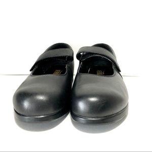 Drew Black Leather Mary Jane Loafers Sz 8.5WW